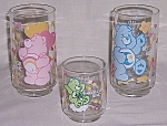 Click here to enlarge image and see more about item TE1212: 3 Glasses � 1986 CareBears