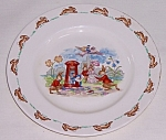 """Click to view larger image of Royal Doulton Bunnykins Plate, Vernon, """"Posting Letters"""" (Image1)"""