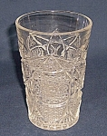 Click here to enlarge image and see more about item TE1362: Pattern Glass – Tumbler -  Hobstar