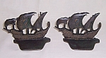 Click here to enlarge image and see more about item TE1444: Clipper Ships � Iron Bookends