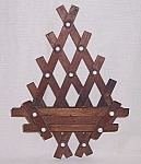 Click to view larger image of Wood & Porcelain -  Comb / Brush Holder	 (Image1)