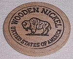 Click to view larger image of Advertising � Wooden Nickel � Buffalo - A (Image1)