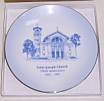 Click to view larger image of St. Joseph Church – Dayton, Ohio – 150th Anniversary - Collector Plate (Image1)