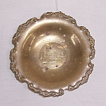 Click here to enlarge image and see more about item TE1474: Brass Footed Dish � Ayasofya � Museum Souvenir