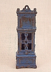 Click to view larger image of Kilgore, Cast Iron, Dollhouse Furniture, Blue Grandfather Clock (Image1)