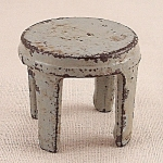 Click to view larger image of Kilgore, Cast Iron, Dollhouse Furniture, Gray Stool - A (Image1)