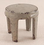 Click to view larger image of Kilgore, Cast Iron, Dollhouse Furniture, Gray Stool - B (Image1)