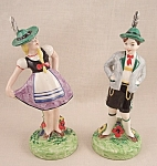 Click here to enlarge image and see more about item TE1521: Erphila  Czechoslovakia  Figurine Pair