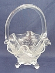 Click here to enlarge image and see more about item TE1525: Fenton Glass Basket