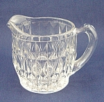 Click here to enlarge image and see more about item TE1535: Jeannette Glass Co. – Windsor – Windsor Diamond – Crystal Creamer