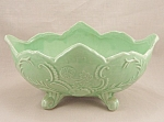 VINTAGE GREEN COOKSON CP-92 FOOTED PLANTER ROSEVILLE OH