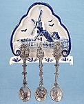 Click to view larger image of Japan – Delft Look Spoon Holder & Spoons	 (Image1)