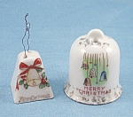 Click here to enlarge image and see more about item TE1702: Made In Japan � Vintage - Merry Christmas Bells