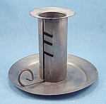 Click here to enlarge image and see more about item TE1758: Tin Ware - Adjustable Metal Candle Holder