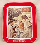Click here to enlarge image and see more about item TE1785: Advertising - Coke /  Coca-Cola Tray 1989 / Square Coke Tray