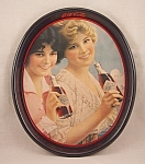 Click here to enlarge image and see more about item TE1787: Advertising - Coke  / Coca-Cola / Oval Tray