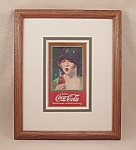 Click here to enlarge image and see more about item TE1790: Advertising - Framed Coke / Coca-Cola  Art Print #1