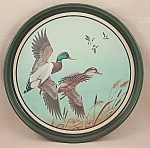 Click here to enlarge image and see more about item TE1796: Avon Tray – Mallards In Flight