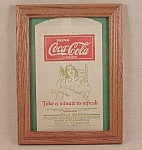 Click here to enlarge image and see more about item TE1797: Advertising � Coke / Coca- Cola / No Drip - Dated Bottle Protector
