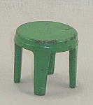 Kilgore Mfg. Co.- Dollhouse Toy � Cast Iron - Stool - Green