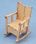 Click to view larger image of Kilgore, Cast Iron, Dollhouse Furniture, Rocking Chair - A, No. T-2 (Image1)
