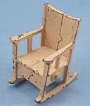 Kilgore, Cast Iron, Dollhouse Furniture, Rocking Chair - B,No. T-2