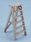 Click here to enlarge image and see more about item TE1922: Kilgore Mfg. Co.-Dollhouse Toy - Cast Iron - Folding Step Ladder- Gray
