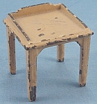 Click to view larger image of Kilgore, Cast Iron, Dollhouse Furniture, Yellow Desk / Telephone Table (Image1)