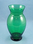 Anchor Hocking � Forest Green Vase - B