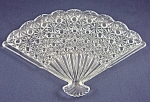Click here to enlarge image and see more about item TE1995: Glass -Fan Shaped Dresser Tray-Daisy & Button
