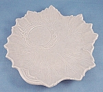 Click to view larger image of Woodfield � Stubenville � Snack Plate � Leaf Shape � Dove Gray-1941 (Image1)