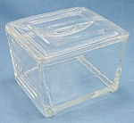 Click here to enlarge image and see more about item TE2002: Crystal Refrigerator Dish � Glasbake