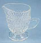 Crystal Footed Creamer – Diamond Point – Indiana Glass