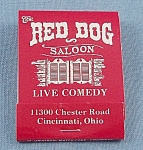 Matchbook � Red Dog Saloon � Cincinnati, Ohio