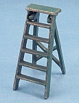 Kilgore Mfg. Co.-Dollhouse Toy - Cast Iron - Folding Step Ladder- Green