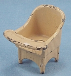 Kilgore - Cast Iron - Dollhouse Furniture � Nursery Chair � Yellow #8