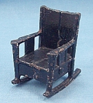 Click here to enlarge image and see more about item TE2103: Kilgore, Cast Iron, Dollhouse Furniture, Black Rocker/ Rocking Chair