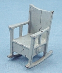 Click to view larger image of Kilgore, Cast Iron, Dollhouse Furniture, Rocker/ Rocking Chair – Blue/Gray (Image1)
