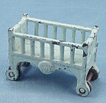 Click to view larger image of Kilgore - Cast Iron � Dollhouse Furniture � Baby Crib / Cradle- Bassinet (Image1)