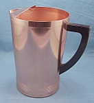 Click here to enlarge image and see more about item TE2116: Vintage West Bend - Aluminum Pitcher � Coppertone