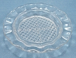Click to view larger image of Jeannette Glass Co. – Homespun – Fine Rib – Crystal- Coaster, Ash Tray (Image1)