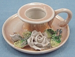 Click here to enlarge image and see more about item TE2153: Made In Germany � Miniature Lusterware Finger Ring Candlestick - Porcelain