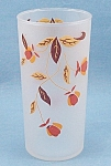 Click to view larger image of Libby-Jewel Tea-Autumn Leaf- Frosted Glass Tumbler (Image1)
