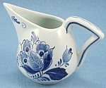Click here to enlarge image and see more about item TE2167: Delft � Holland � Signed Creamer