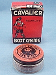 Click here to enlarge image and see more about item TE2295: Advertising � Cavalier Boot Cr�me � Box and Jar