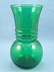 Click to view larger image of Anchor Hocking – Forest Green –Vase - C (Image1)