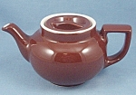 Click here to enlarge image and see more about item TE2351: Hall � Individual � Teapot � Brown