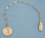 Click here to enlarge image and see more about item TE2383: John F. Kennedy – Watch Fob- Memorabilia