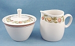 Click here to enlarge image and see more about item TE2442: Franciscan – Pickwick - Creamer /  Sugar Bowl & Lid