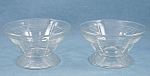 Click to view larger image of Pair Pattern Glass Sherbets – Rings Pattern (Image1)